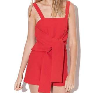 KEEPSAKE Long Division Playsuit Ruby