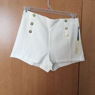 F21 White Shorts (NEW)