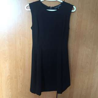 Dynamite Black Fit And Flare Dress