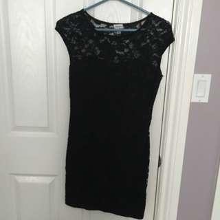 Dynamite Lace Black Dress