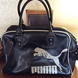 Puma (faux) Leather Gym Bag