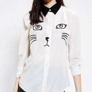 Urban Outfitters X Reverse Cat Button-Down Shirt