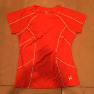 Orange FILA Top