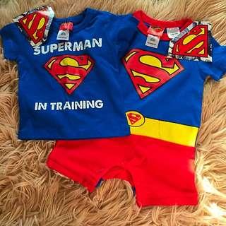 Superman Tshirt And Romper