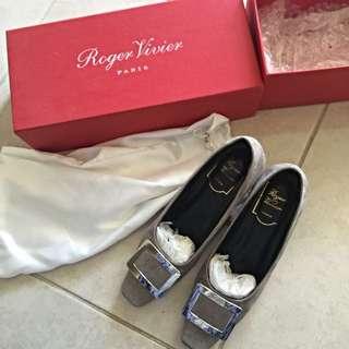 Roger vivier grey heel 4cm 37