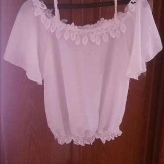 全新,白色牛仔短褲尺寸m,出清,2件150