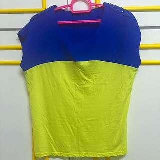 Korean Top (Blue/Yellow)