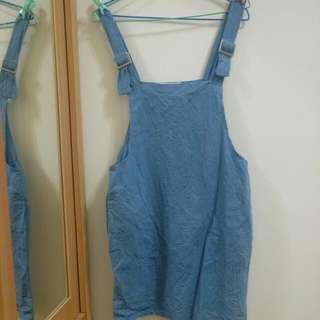 藍色吊帶裙
