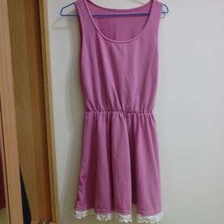 粉色背心裙/洋裝