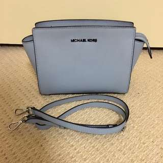 Authentic Blue Michael Kors Selma Mini Bag