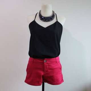 Authentic cotton on shorts in Red