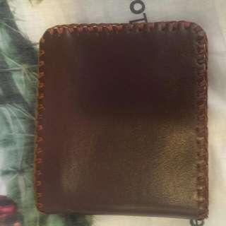 純手工縫製真皮皮夾(限量)黑 咖啡