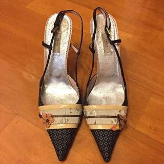 Prada Woman Shoe Black High Heel Sz 39