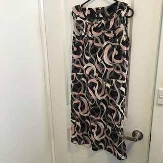 Pink & Brown Printed Dress