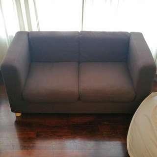 muji 2 seater sofa