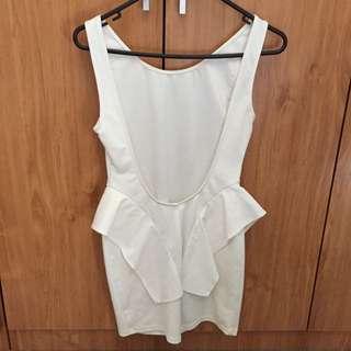 Backstage Dress White