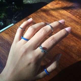 Blue Rings Set