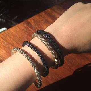 Black And Gold bracelets