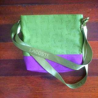 Lacoste Bag Green And Purple