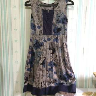 Brown&Navy Floral Dress