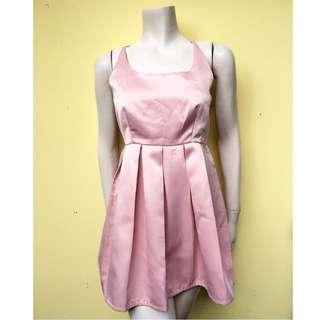 New w/o tag Polka Dot Baby pink dress
