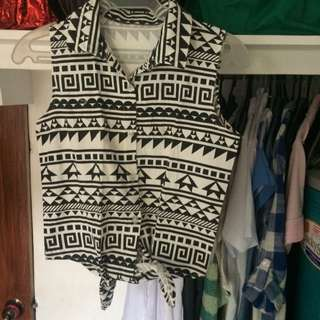(Reserved) Aztec Sleeveless Top