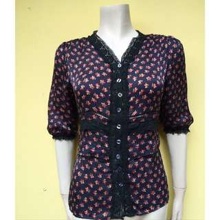 Authentic Dolce & Gabbana Silk Printed Top