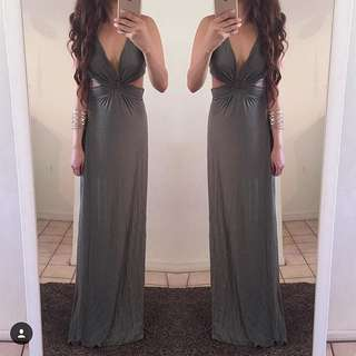 Khaki Maxi Dress - Small