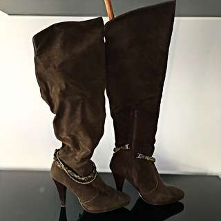 Chained Thigh High Boots