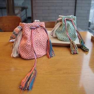 手工編織夏日流蘇包小包斜背包