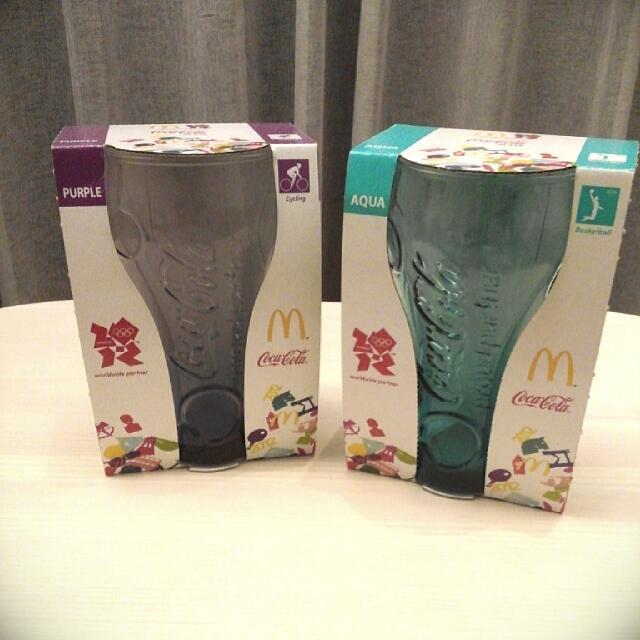 可口可樂曲線杯/全新(兩個150元!)