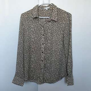Blouse With Print Love Hearts Size 10 Valley Girl
