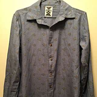 Revival Long Sleeve Button Down With Small Flowers