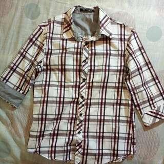 英倫風 格條紋襯衫