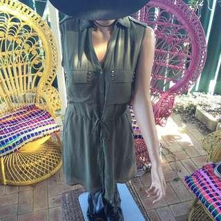 H&M Sweet Khaki Indie Dress