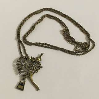 [二手項鍊]小鳥古銅項鍊