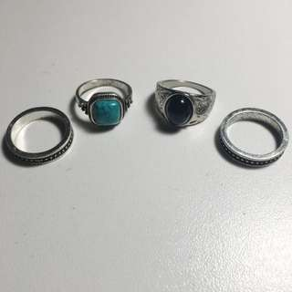 COLETTE 4 Piece Ring Set