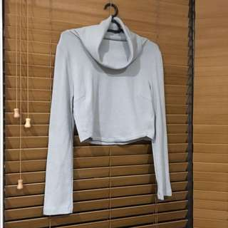 RUMORE BOUTIQUE Roll Neck Knit Crop
