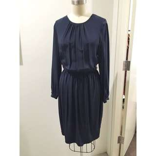 Zimmermann Navy Lace Back Dress