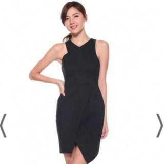 Brand New Love Bonito Asymmetrical Dress - Black, Size M