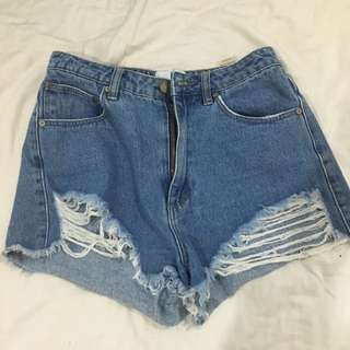 Afends High Waisted Shorts