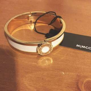 Mimco Narrow Hinged Cuff White