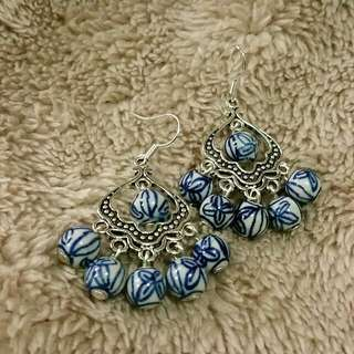 Ceramic Bead Earrings. One of a kind. Handmade in Brisbane :). Express your inner Earth Goddess!
