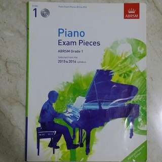 ABRSM Grade 1 Exam Pieces With CD Scales And Sight Reading 2015&2016--Reserved