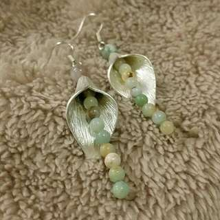 Calalily Amazonite Stone Earrings. One of a kind. Delicate adornment for your ears. Handmade in Brisbane 😙