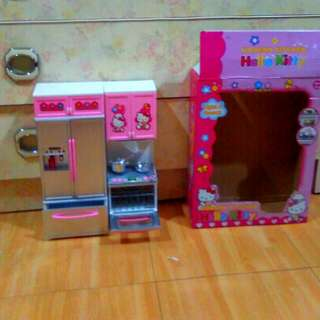 Preloved Hello Kitty Kitchen Playset