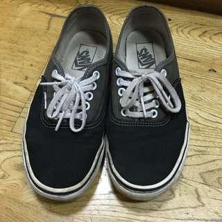 Vans 帆布鞋 雙色搭配 24.5