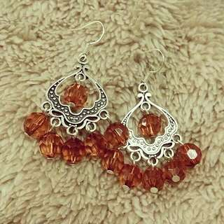 Amber Crystal Chandelier earrings. One of a kind. Handmade in Brisbane. You deserve to shine 💫💎☄