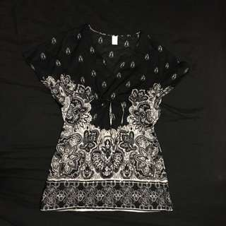 Kaftan Style Mini Beach Dress