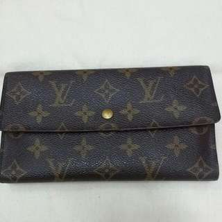 Authentic Louis Vuitton Monogram Porte Tresor International Trifold Long Wallet